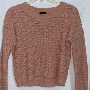 Rue 21: cropped sweater- pink